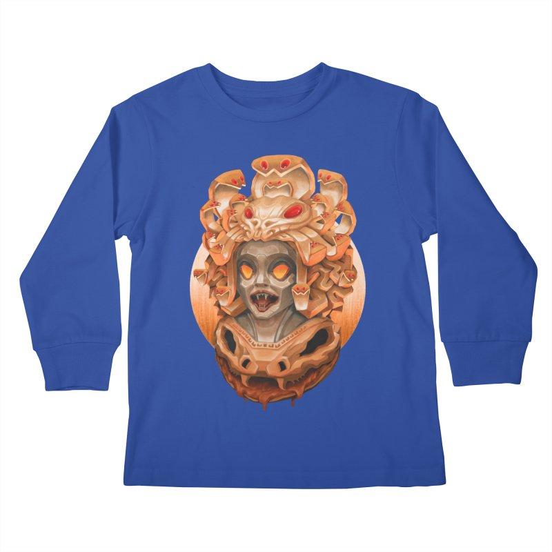 Golden Medusa Kids Longsleeve T-Shirt by villainmazk's Artist Shop