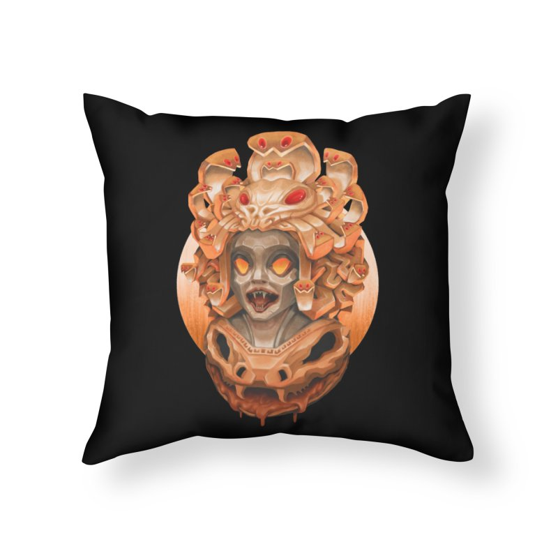 Golden Medusa Home Throw Pillow by villainmazk's Artist Shop