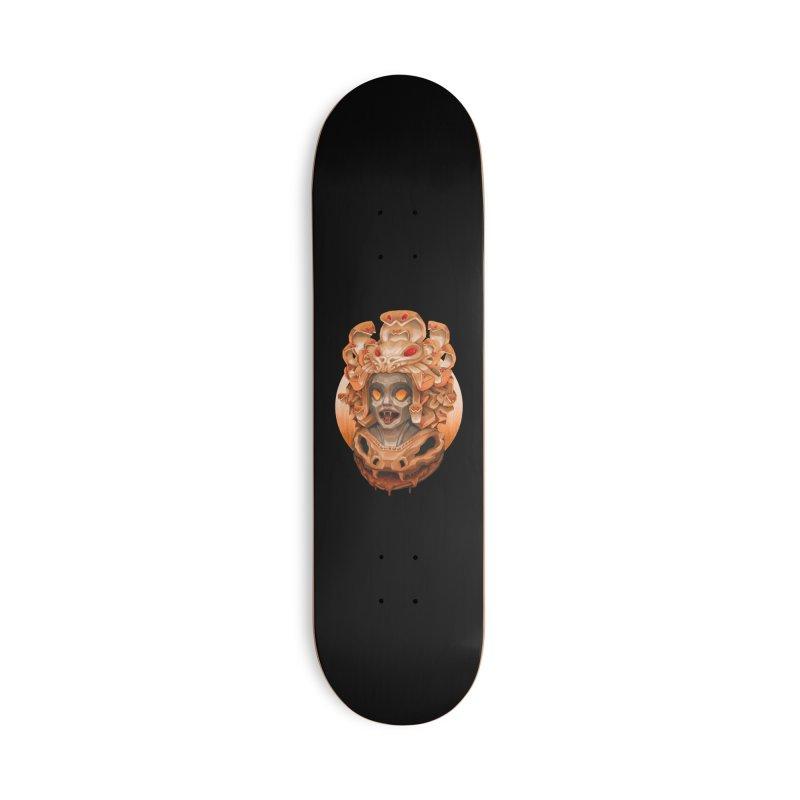 Golden Medusa Accessories Skateboard by villainmazk's Artist Shop