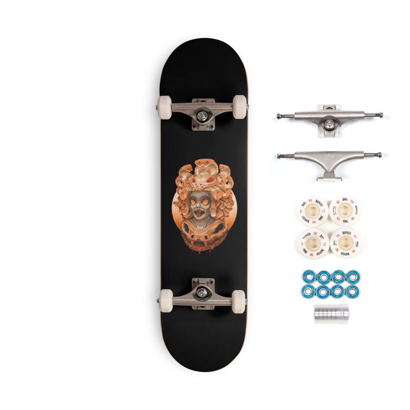 Golden Medusa Accessories Complete - Premium Skateboard by villainmazk's Artist Shop