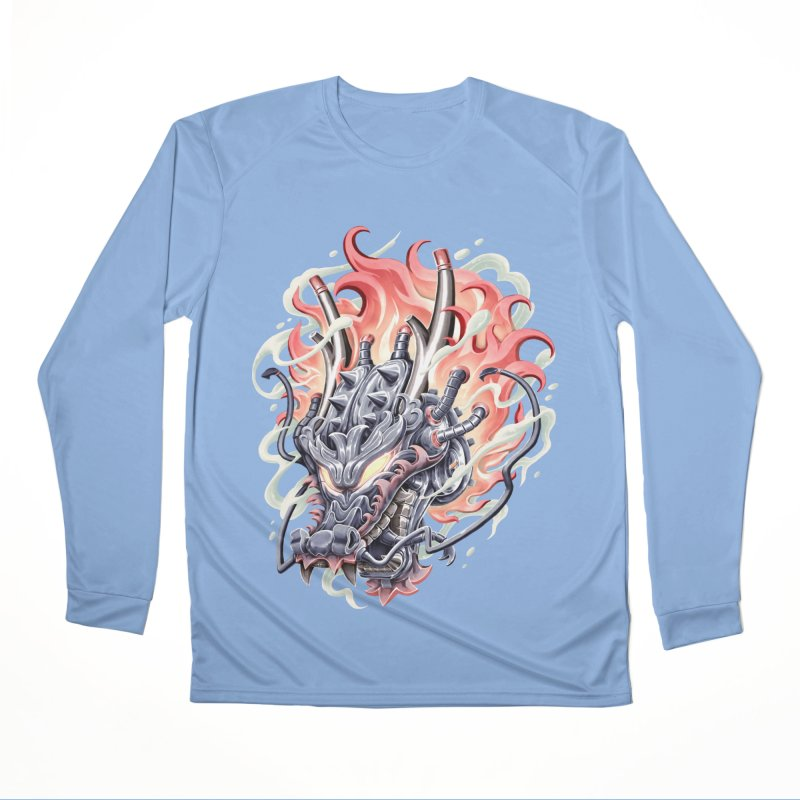 Dragon Steam Men's Performance Longsleeve T-Shirt by villainmazk's Artist Shop