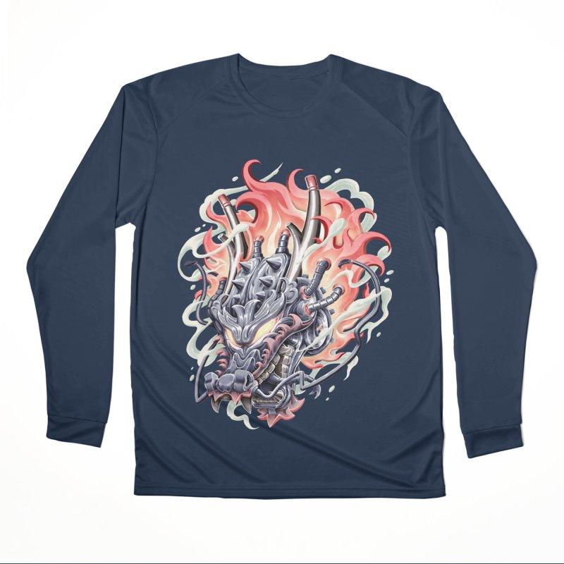 Dragon Steam Women's Performance Unisex Longsleeve T-Shirt by villainmazk's Artist Shop