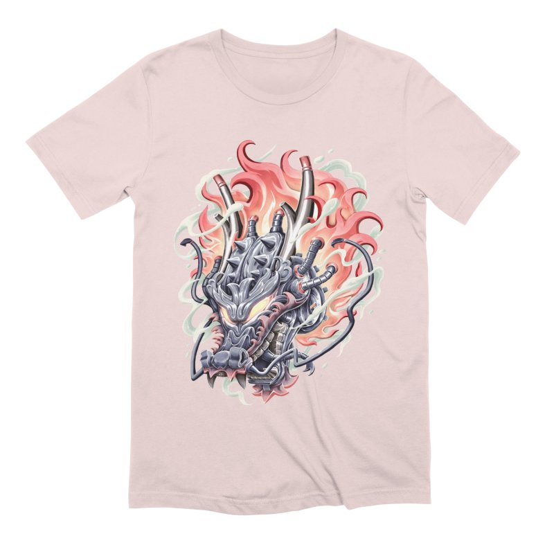 Dragon Steam Men's Extra Soft T-Shirt by villainmazk's Artist Shop