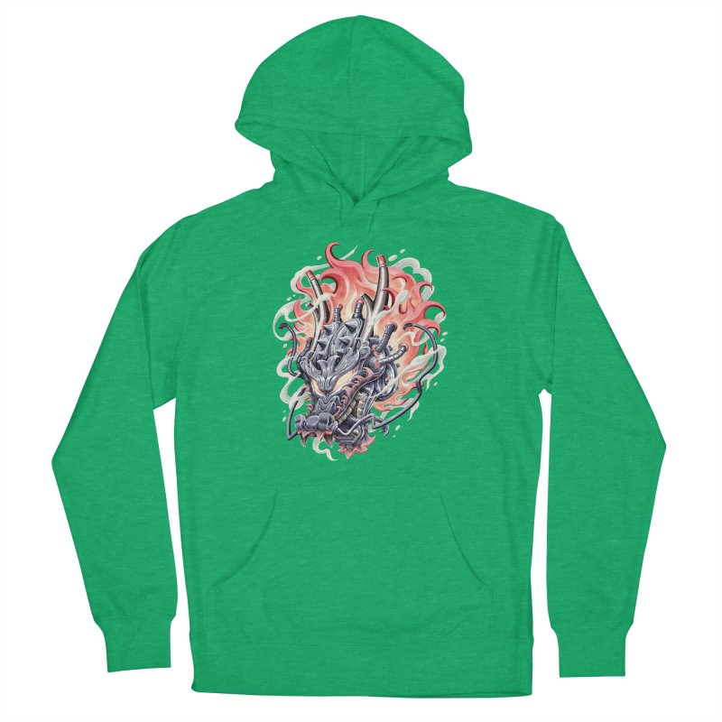 Dragon Steam Men's French Terry Pullover Hoody by villainmazk's Artist Shop