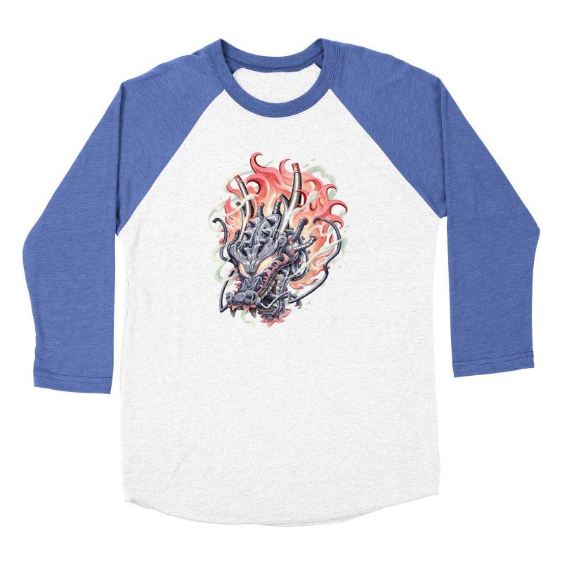 Dragon Steam Women's Baseball Triblend Longsleeve T-Shirt by villainmazk's Artist Shop