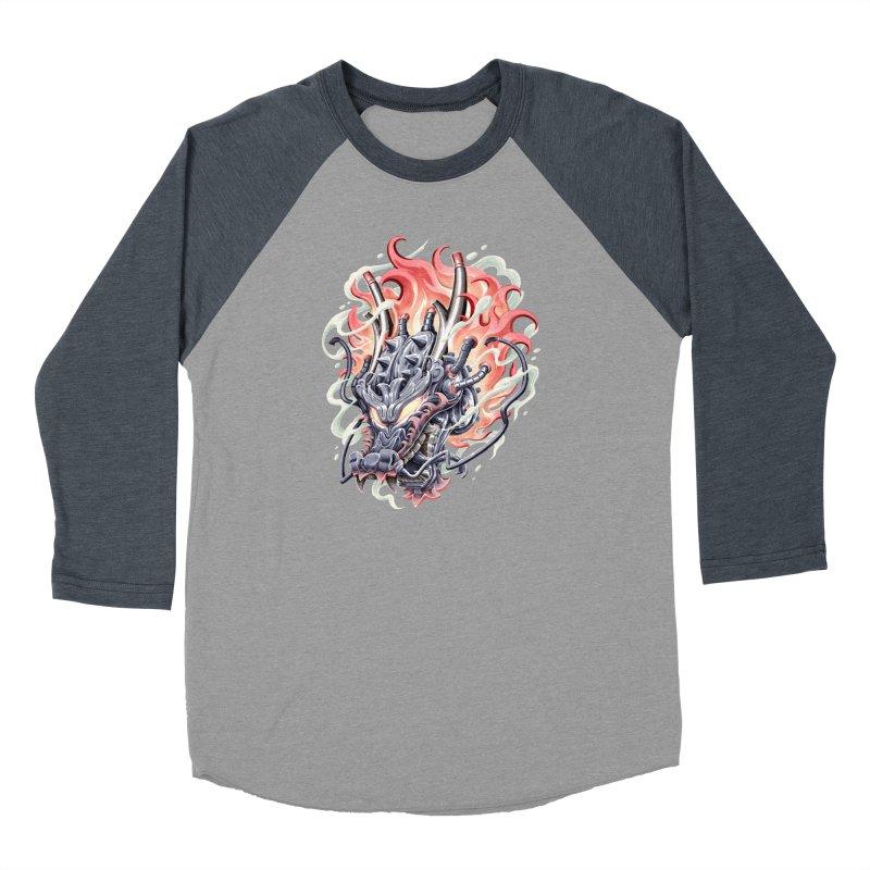 Dragon Steam Men's Baseball Triblend Longsleeve T-Shirt by villainmazk's Artist Shop