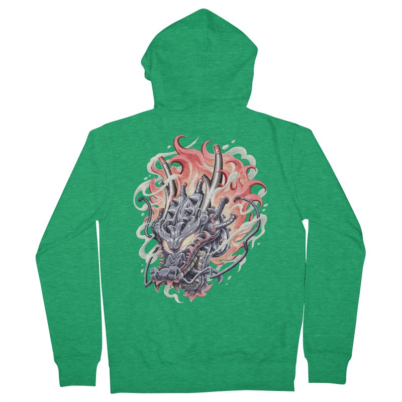 Dragon Steam Men's Zip-Up Hoody by villainmazk's Artist Shop