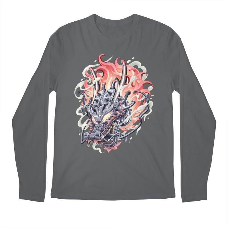 Dragon Steam Men's Longsleeve T-Shirt by villainmazk's Artist Shop