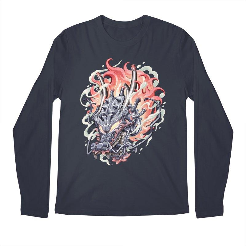 Dragon Steam Men's Regular Longsleeve T-Shirt by villainmazk's Artist Shop