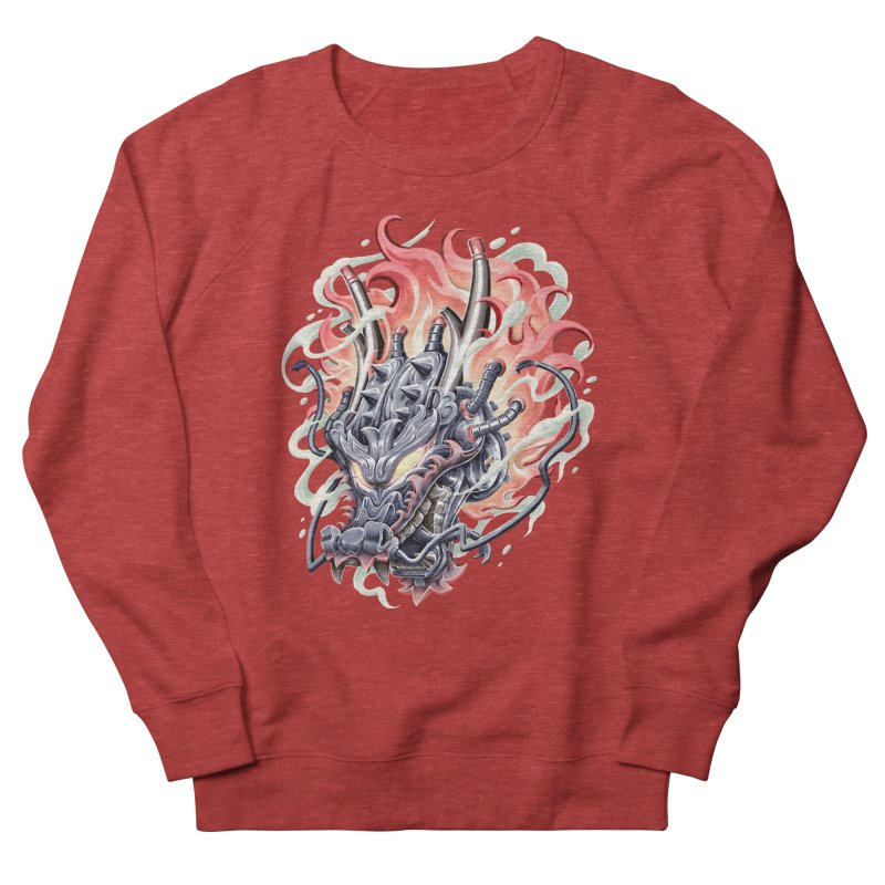 Dragon Steam Women's French Terry Sweatshirt by villainmazk's Artist Shop