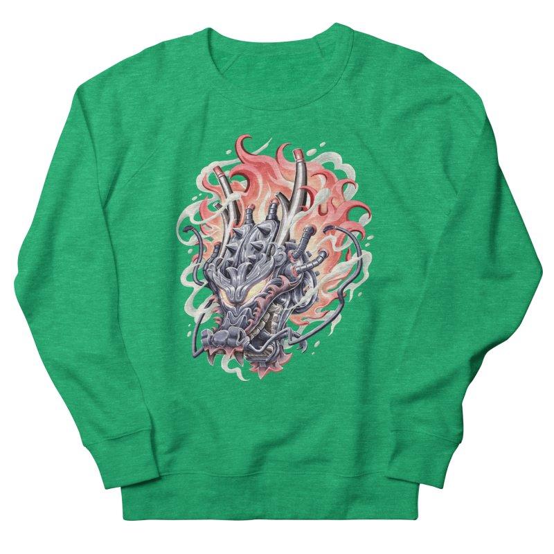 Dragon Steam Men's French Terry Sweatshirt by villainmazk's Artist Shop