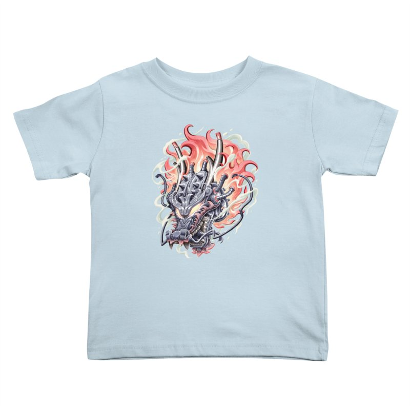 Dragon Steam Kids Toddler T-Shirt by villainmazk's Artist Shop