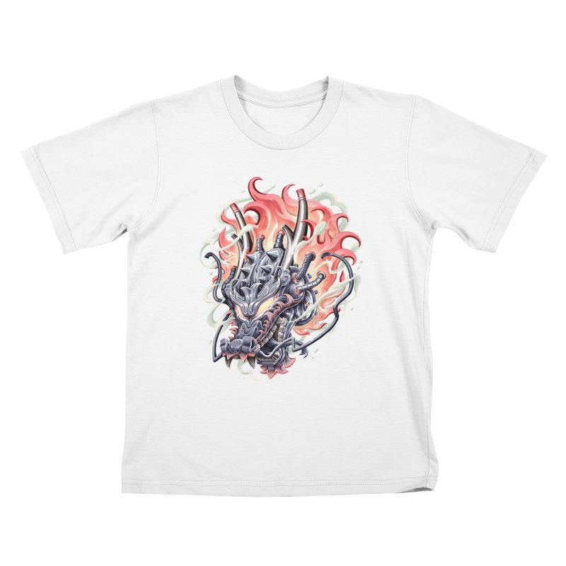 Dragon Steam Kids T-Shirt by villainmazk's Artist Shop