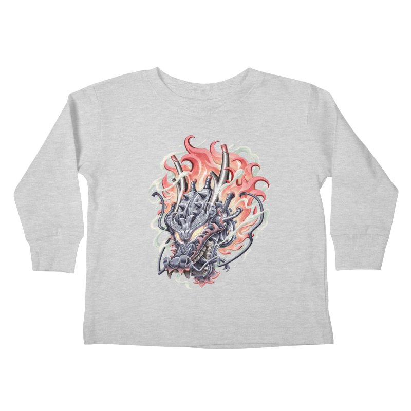 Dragon Steam Kids Toddler Longsleeve T-Shirt by villainmazk's Artist Shop