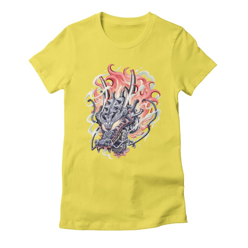 Dragon Steam Women's Fitted T-Shirt by villainmazk's Artist Shop