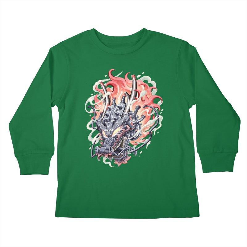 Dragon Steam Kids Longsleeve T-Shirt by villainmazk's Artist Shop