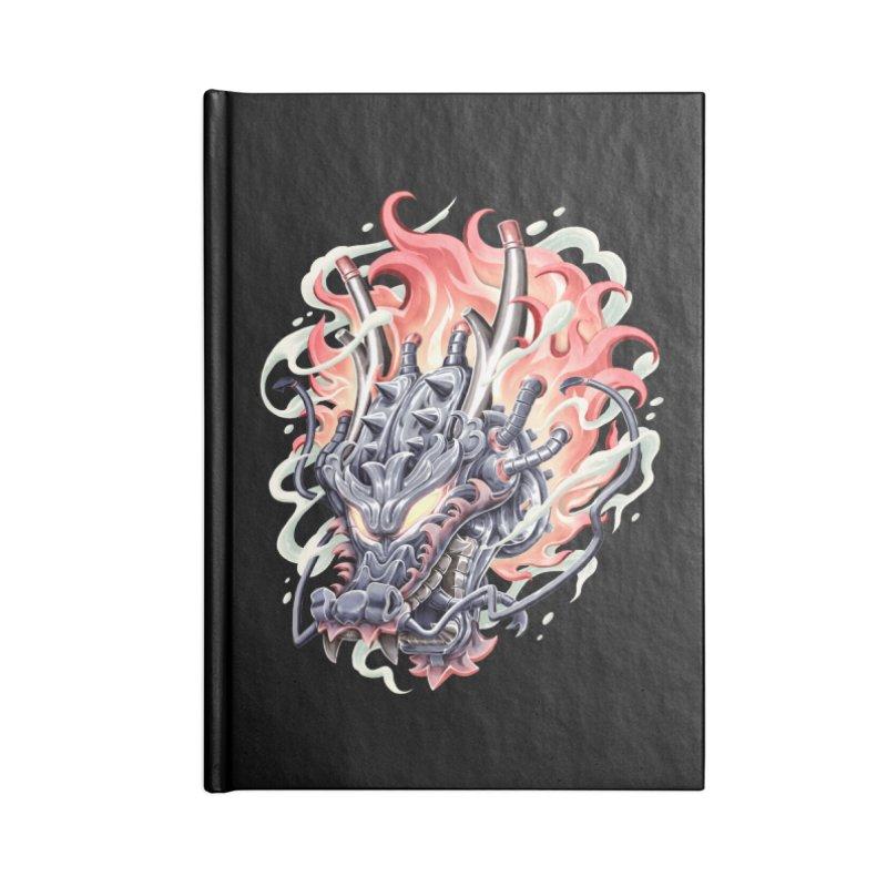 Dragon Steam Accessories Blank Journal Notebook by villainmazk's Artist Shop