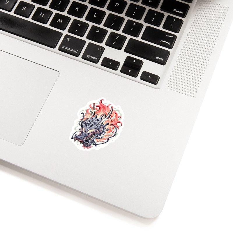 Dragon Steam Accessories Sticker by villainmazk's Artist Shop