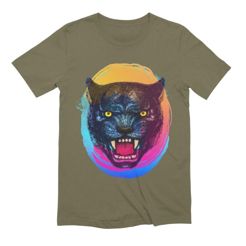 Panther Roar Men's Extra Soft T-Shirt by villainmazk's Artist Shop