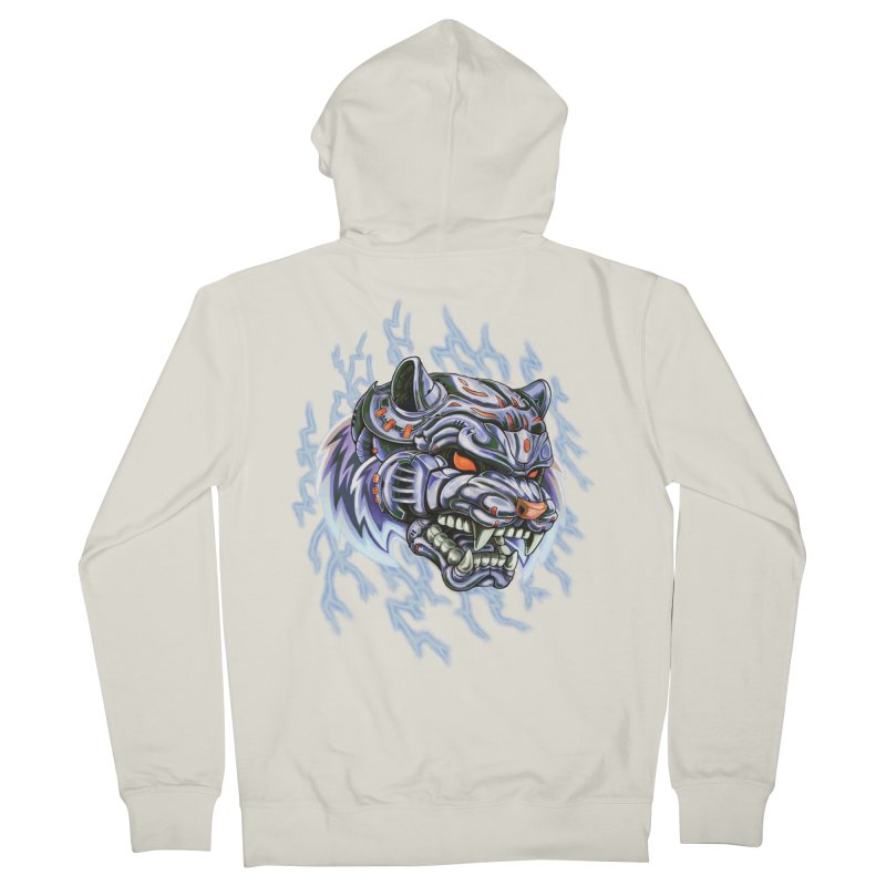 Thunder Tiger Women's French Terry Zip-Up Hoody by villainmazk's Artist Shop