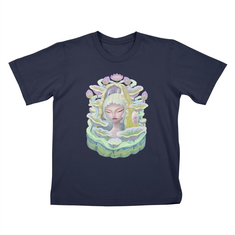 Purple Lotus Kids T-Shirt by villainmazk's Artist Shop