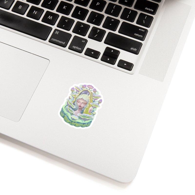 Purple Lotus Accessories Sticker by villainmazk's Artist Shop