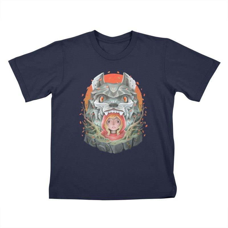 Red Hood tale Kids T-Shirt by villainmazk's Artist Shop