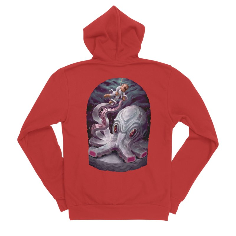 Giant Kraken Women's Zip-Up Hoody by villainmazk's Artist Shop