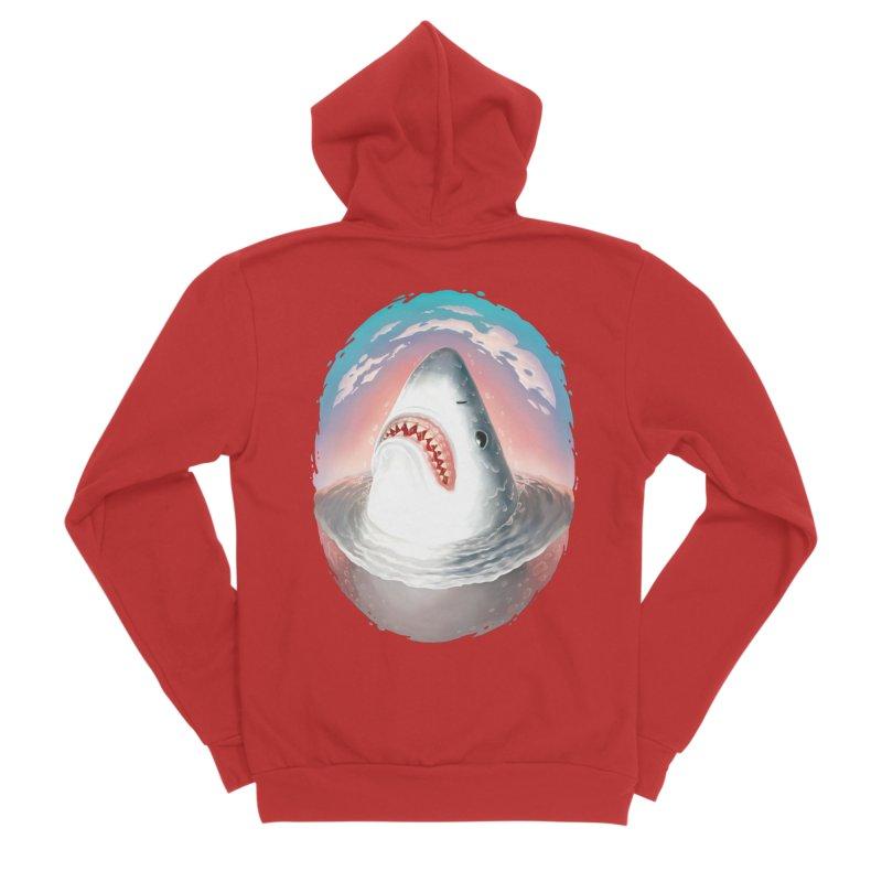 Sunset Shark Women's Zip-Up Hoody by villainmazk's Artist Shop