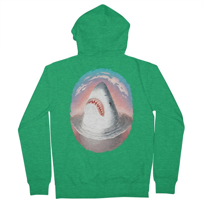 Sunset Shark Men's Zip-Up Hoody by villainmazk's Artist Shop
