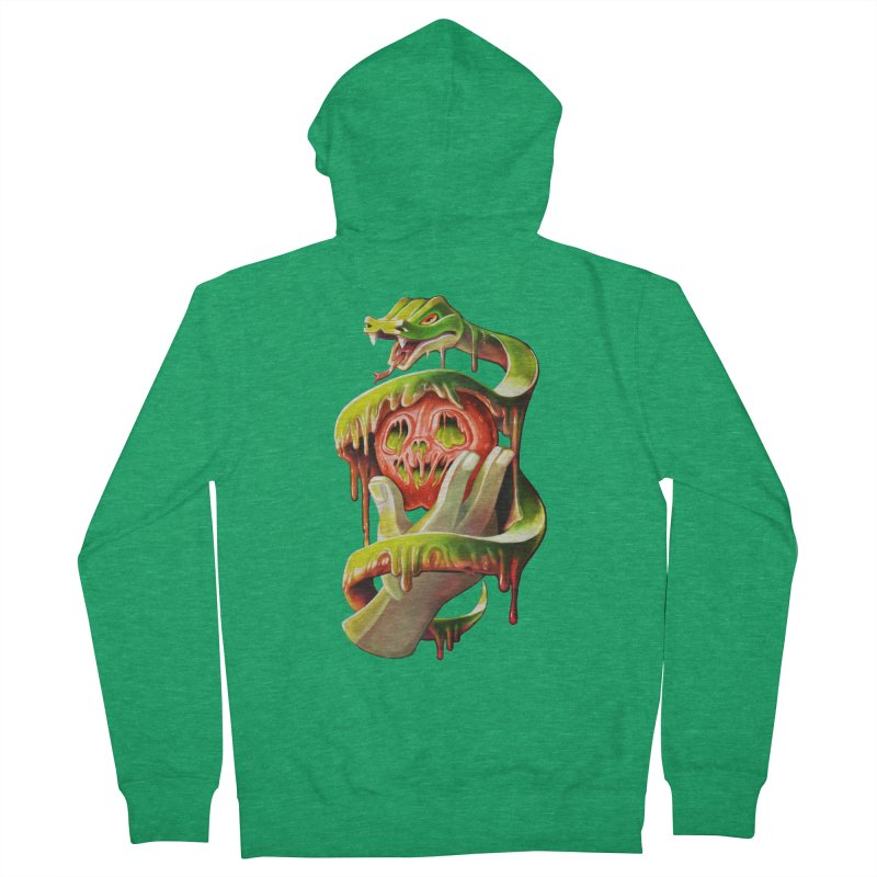 Snake & Apple of Eden Men's Zip-Up Hoody by villainmazk's Artist Shop
