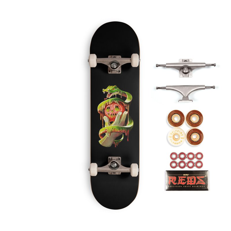 Snake & Apple of Eden Accessories Skateboard by villainmazk's Artist Shop