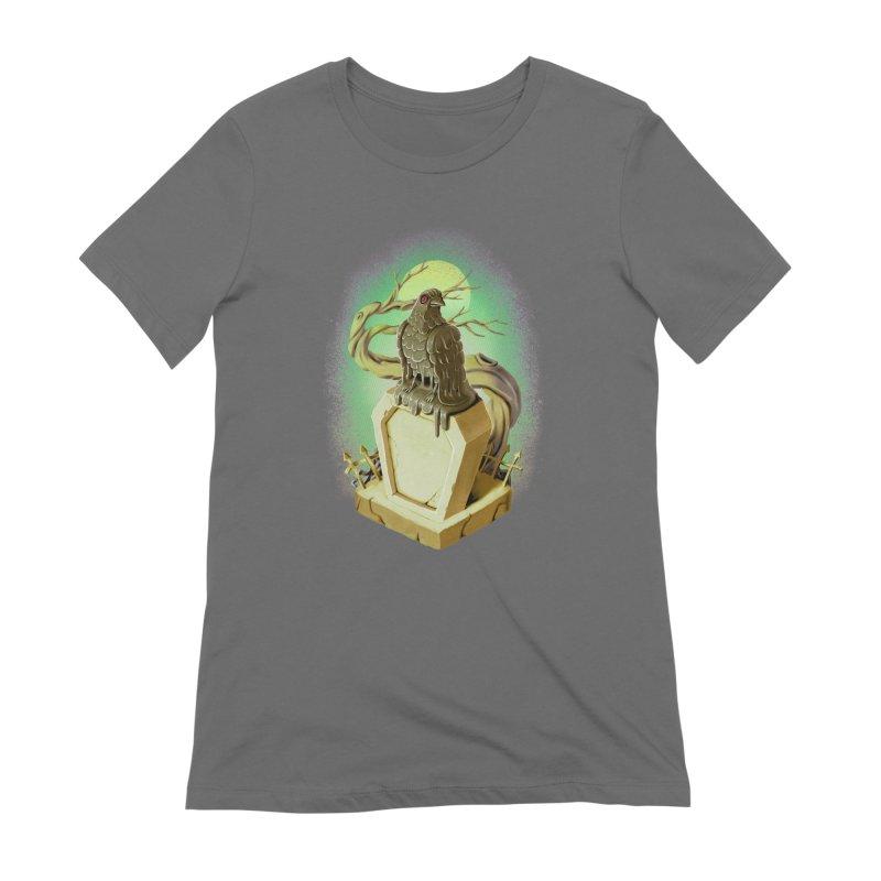 Night Crow Women's T-Shirt by villainmazk's Artist Shop
