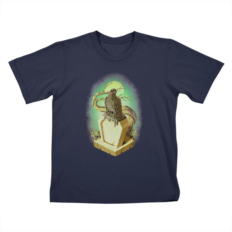 Night Crow Kids T-Shirt by villainmazk's Artist Shop