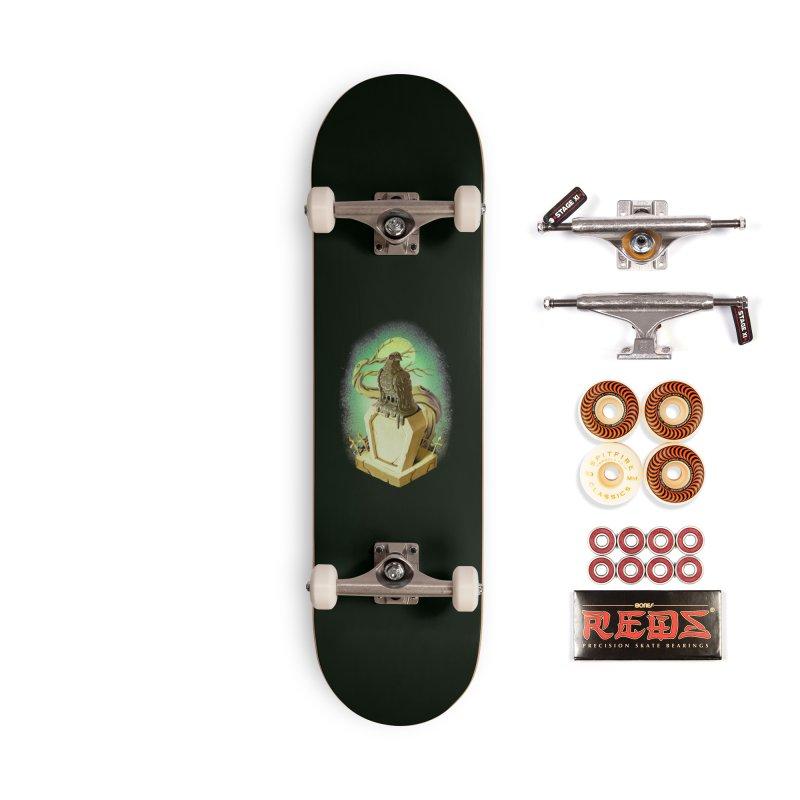 Night Crow Accessories Skateboard by villainmazk's Artist Shop