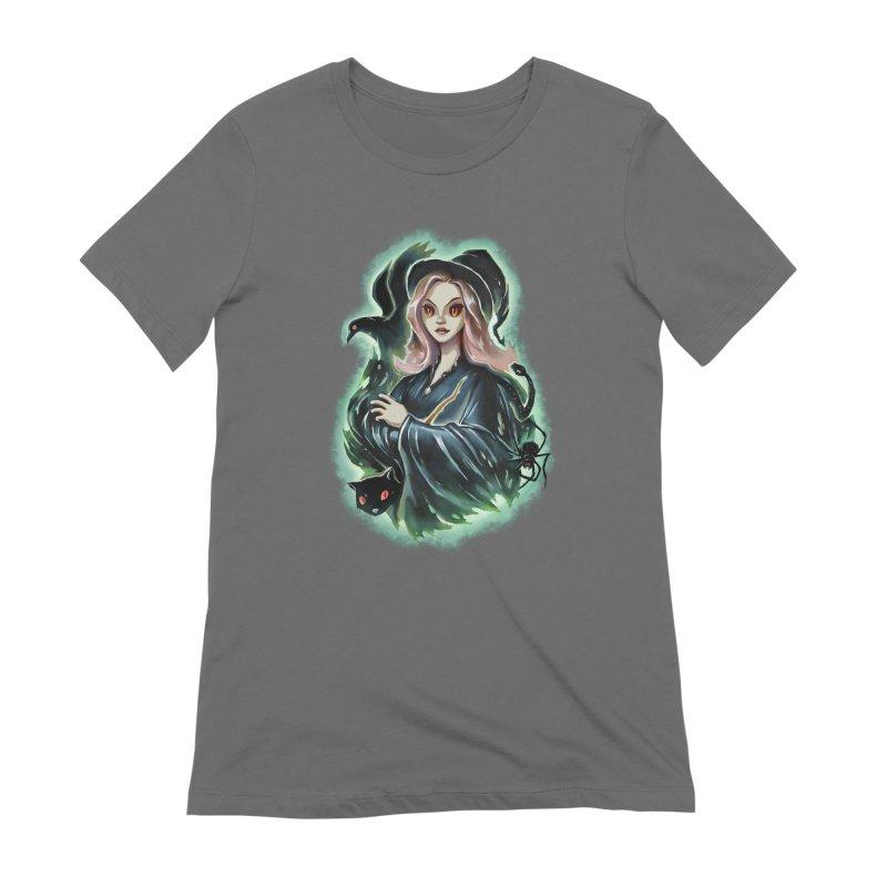 Witch and Dark Pets Women's T-Shirt by villainmazk's Artist Shop