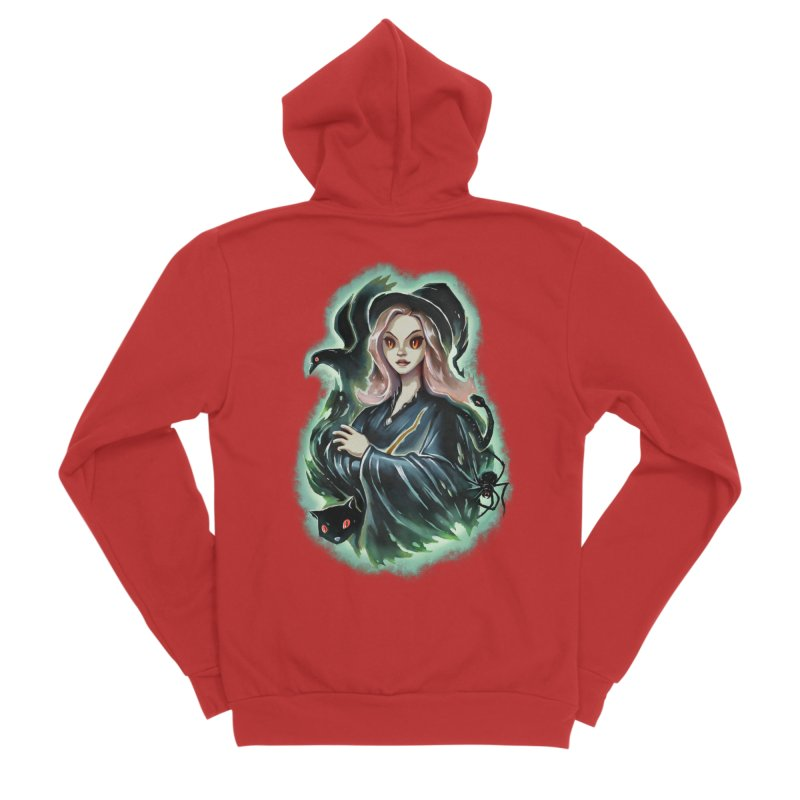 Witch and Dark Pets Women's Zip-Up Hoody by villainmazk's Artist Shop