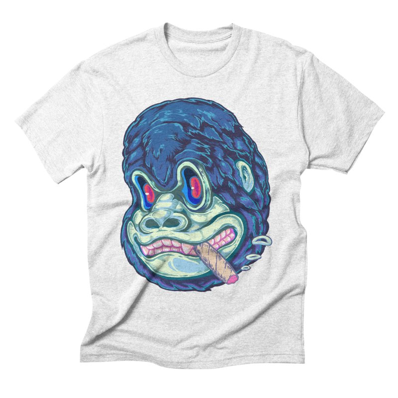 Smoking King Kong Men's Triblend T-shirt by villainmazk's Artist Shop