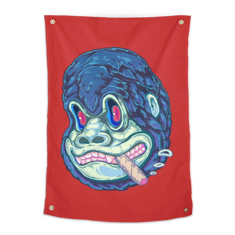 Smoking King Kong Home Tapestry by villainmazk's Artist Shop