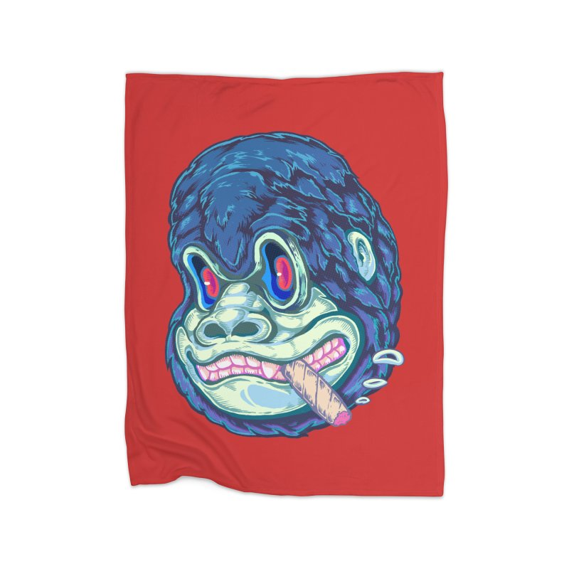 Smoking King Kong Home Blanket by villainmazk's Artist Shop