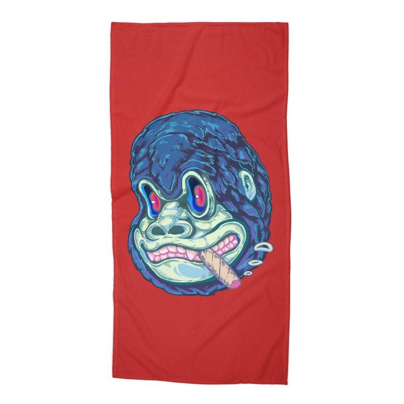 Smoking King Kong Accessories Beach Towel by villainmazk's Artist Shop