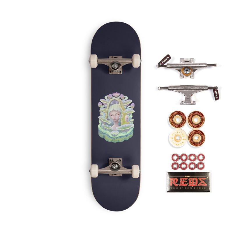 Purple Lotus Accessories Skateboard by villainmazk's Artist Shop