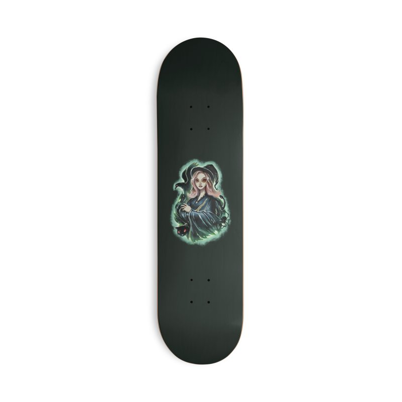Witch and Dark Pets Accessories Skateboard by villainmazk's Artist Shop