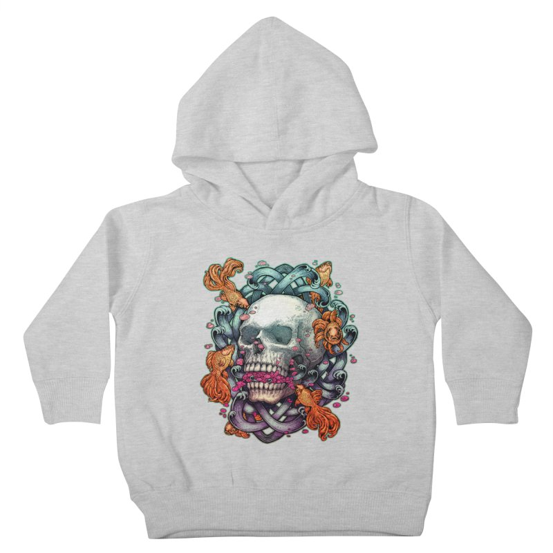 Skull and Goldenfishs Kids Toddler Pullover Hoody by villainmazk's Artist Shop