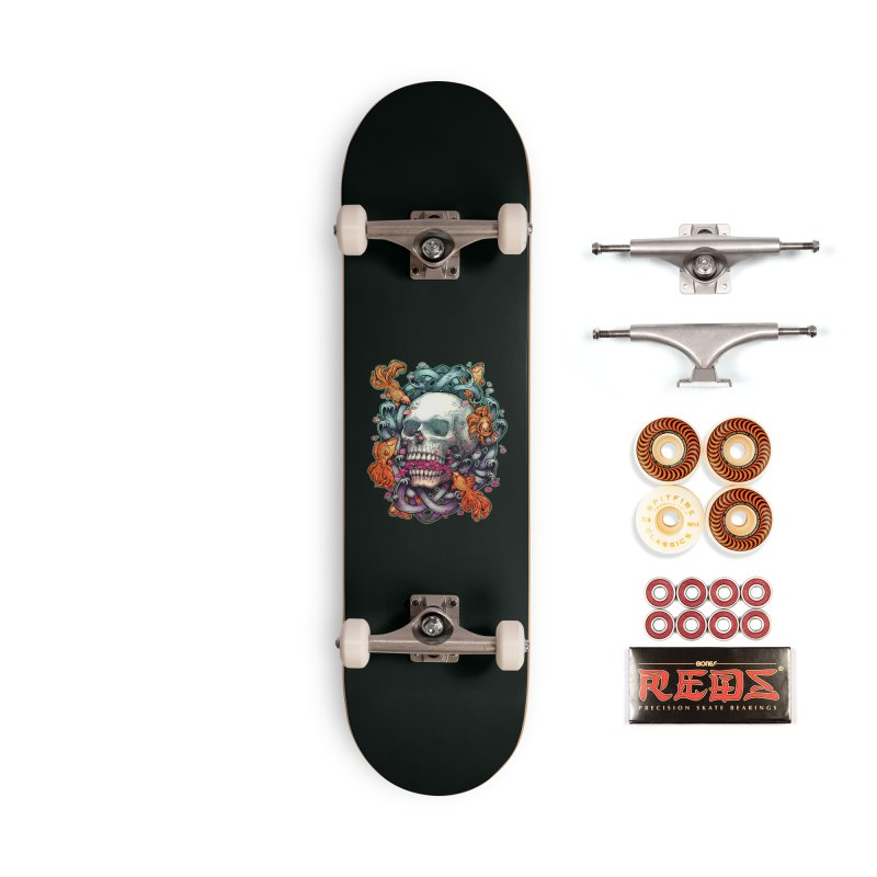 Skull and Goldenfishs Accessories Skateboard by villainmazk's Artist Shop