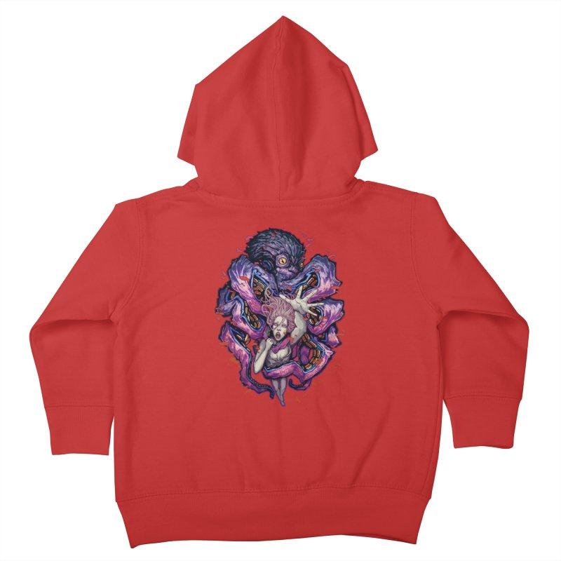 octopus monster Kids Toddler Zip-Up Hoody by villainmazk's Artist Shop