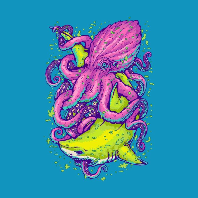 Shark vs Octopus Men's Longsleeve T-Shirt by villainmazk's Artist Shop