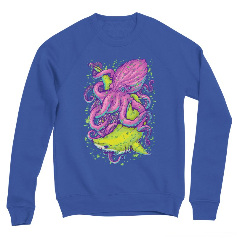 Shark vs Octopus Women's Sweatshirt by villainmazk's Artist Shop