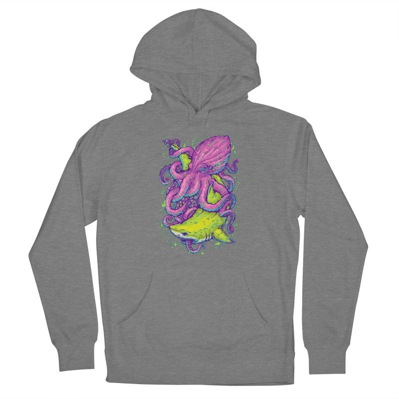 Shark vs Octopus Women's Pullover Hoody by villainmazk's Artist Shop