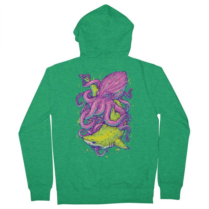 Shark vs Octopus Men's Zip-Up Hoody by villainmazk's Artist Shop